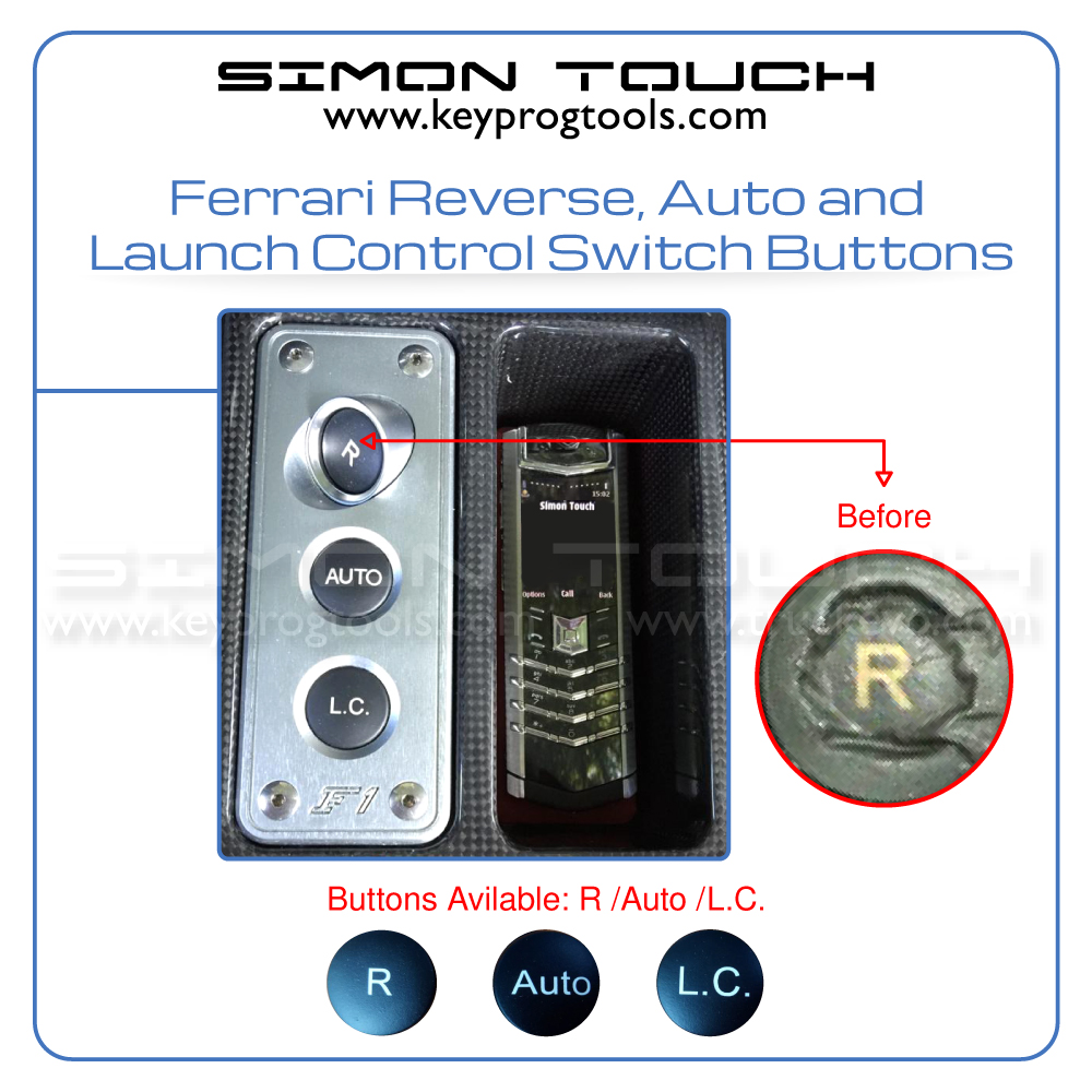 ferrari launch control buttons
