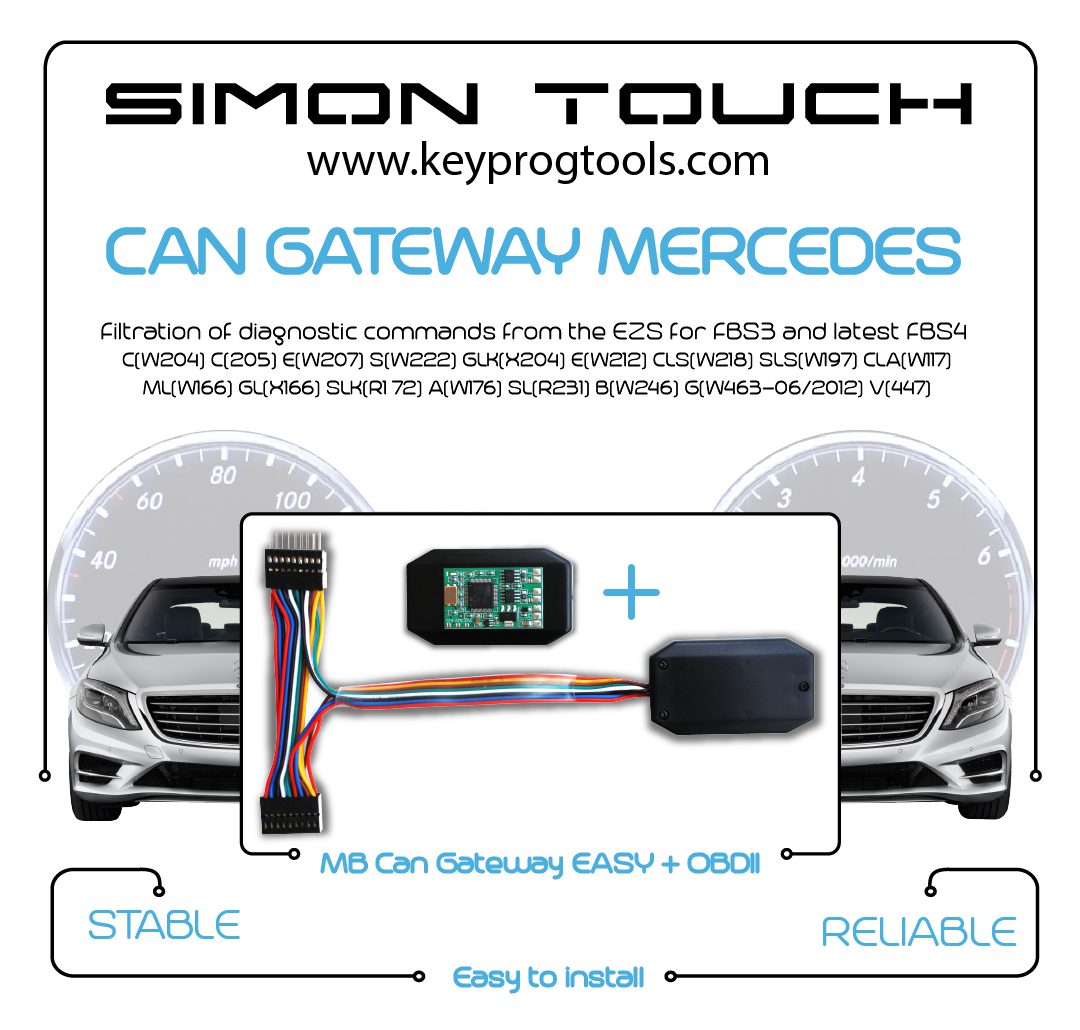 MB CAN GATEWAY mercedes easy odometer obd can blocker