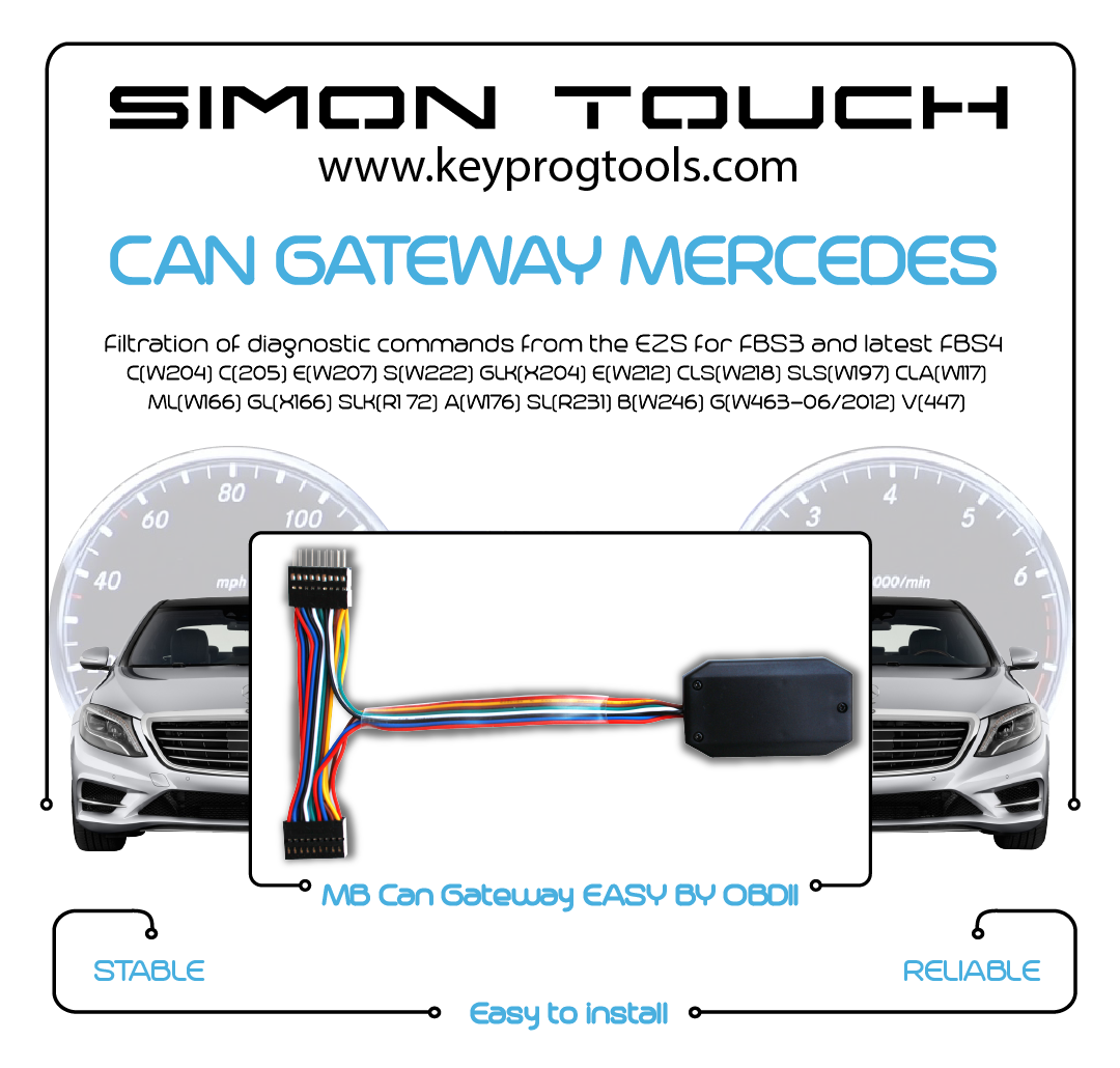 mercedes mb can gateway odmoter correction