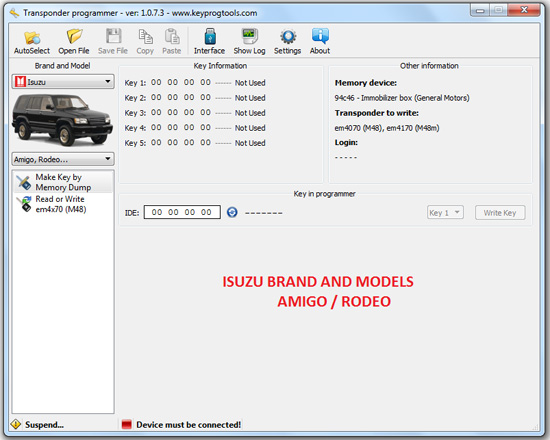 17-ISUZU-key-learning-programming-device
