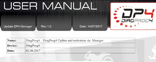 Update DP4 Manager eng